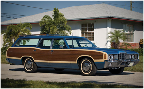 1973 Ford LTD Country Squire.  Keyes family adventure wagon.